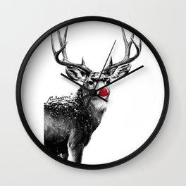 Christmas - Red Nose Reindeer Wall Clock