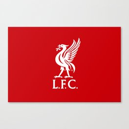 Liverpool FC White on Red 2017 Logo Canvas Print
