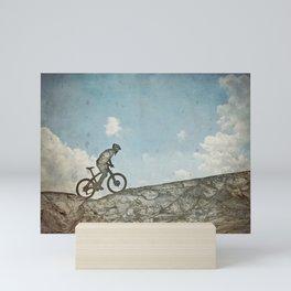 Mountain Biking Mini Art Print