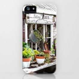 Potting Shed At Work - angled iPhone Case