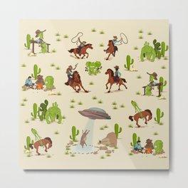 COWBOYS & ALIENS Metal Print