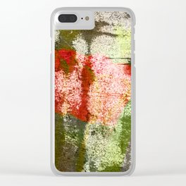 Structured Tulips Clear iPhone Case