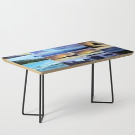 Scenic Photo Art Collage Coffee Table