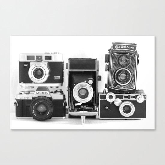 Vintage Camera Collection Canvas Print