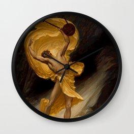"Sir William Blake Richmond ""Orpheus returning from the Shades"" Wall Clock"