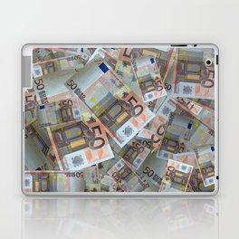Piles of 50 Euro notes Laptop & iPad Skin