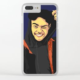 Noah Centineo Vector Portrait Clear iPhone Case