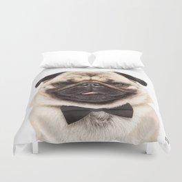 Helmut the Pug - Bow Tie Duvet Cover