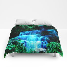 Enchanted waterfall. Comforters