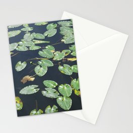 Leaves on water Stationery Cards
