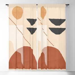 Abstract Minimal Shapes 39 Blackout Curtain