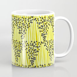 Dots + Stripes - Gold Coffee Mug