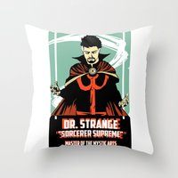doctor Throw Pillows featuring Doctor by Shop 5