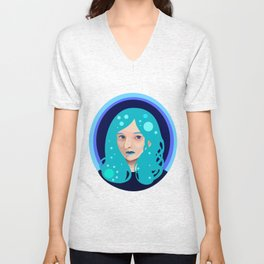 Vector Girl Unisex V-Neck