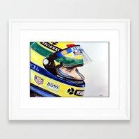 senna Framed Art Prints featuring Senna by Gabriel Fox