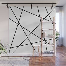 Lines in Chaos II - White Wall Mural