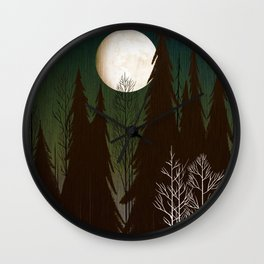 Into The Winter Woods Wall Clock