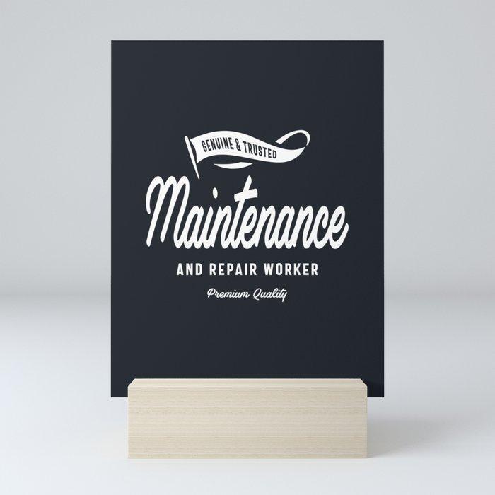 Maintenance and Repair Worker Mini Art Print