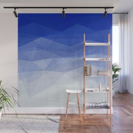Imperial Lapis Lazuli - Triangles Minimalism Geometry Wall Mural