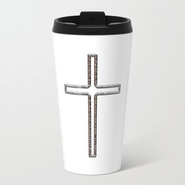 Chrome Crucifix Hollow Travel Mug