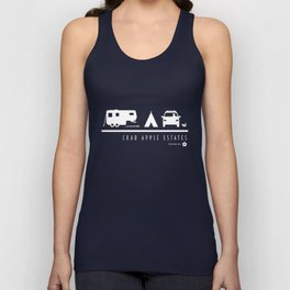 Crab Apple Estates White Logo Unisex Tank Top