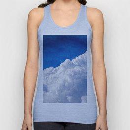 White Cumulus Clouds In The Blue Sky Unisex Tank Top