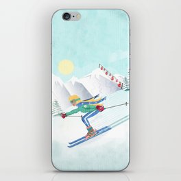 Skiing Girl iPhone Skin