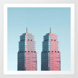 Penthouse Twins Art Print