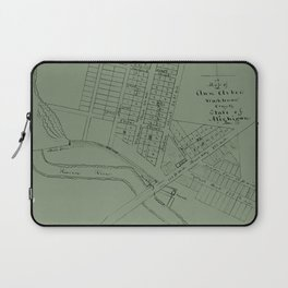 Map Of Ann Arbor 1832 Laptop Sleeve