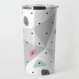 Abstract geometric climbing gym boulders pink mint Travel Mug