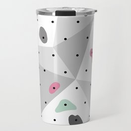 Abstract geometric climbing gym boulders pink mint Travel Mug