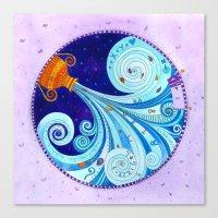 aquarius Canvas Prints featuring Aquarius by Sandra Nascimento