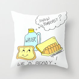 Be Ready Throw Pillow