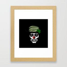 Irish Clown Skeleton Framed Art Print
