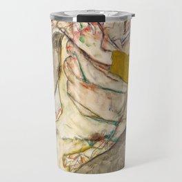 "Egon Schiele ""Seated Couple"" Travel Mug"