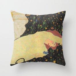 "Egon Schiele ""Daneae"" Throw Pillow"