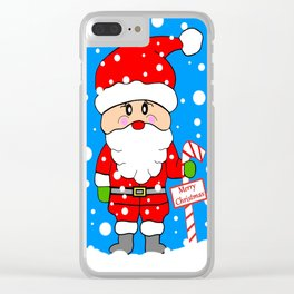 Merry Christmas Santa Clear iPhone Case