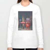 titan Long Sleeve T-shirts featuring My Neighbor Titan by Ron Chan
