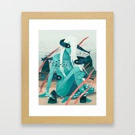 Heavy water Framed Art Print