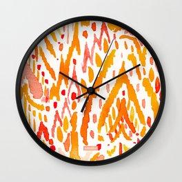 WARRIOR FIRE TRIBAL Wall Clock
