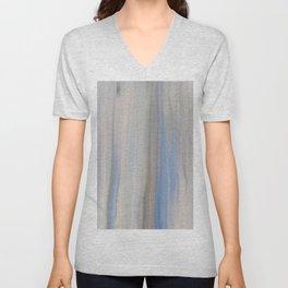 Modern Abstract Blue Lilac Gray Brushstrokes Stripes Unisex V-Neck