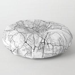 Rome Map White Floor Pillow