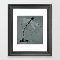 Here, There & Back Again (G). Framed Art Print