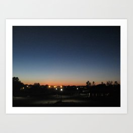 A city at twilight Art Print