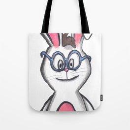 Bunny wearing glasses Tote Bag