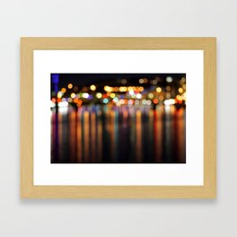 Bokeh City Night Lights Framed Art Print