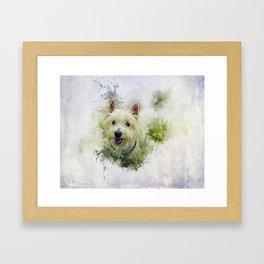 West Highland White Terrier Framed Art Print