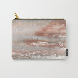 Silvery brown colorful watercolor pattern Carry-All Pouch