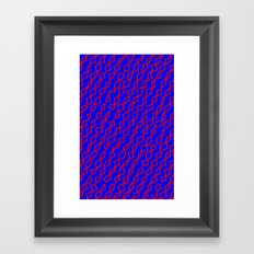 Blue/Red Framed Art Print