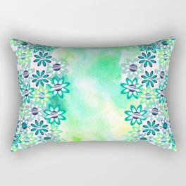 Watercolor and gentle abstract  flowers Rectangular Pillow